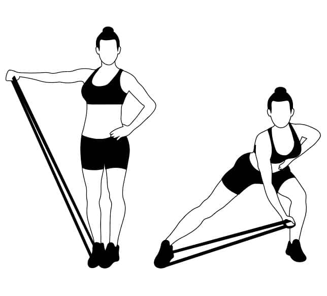 Banded Lateral Lunges Women