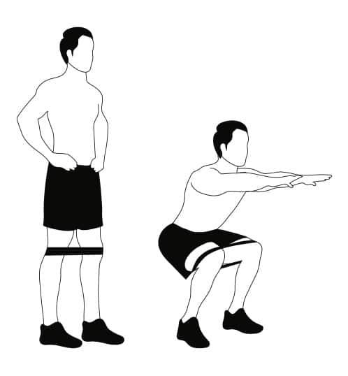 Banded Squats Man