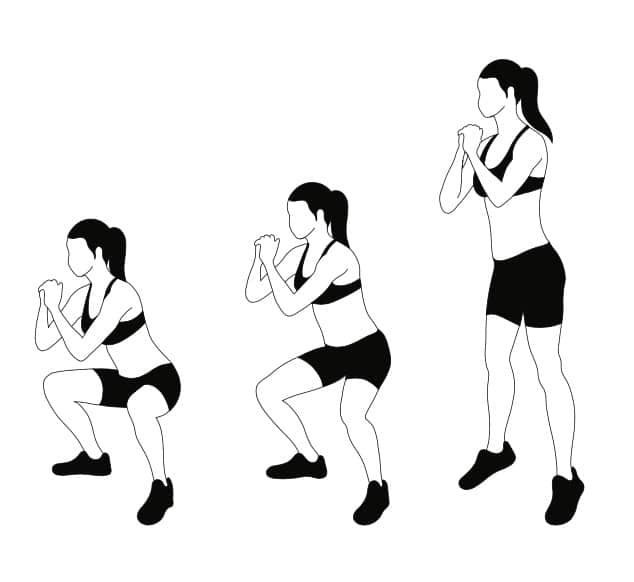 In Out Jump Squats Women