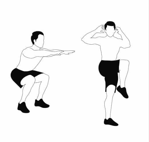 Squat To Core Twist