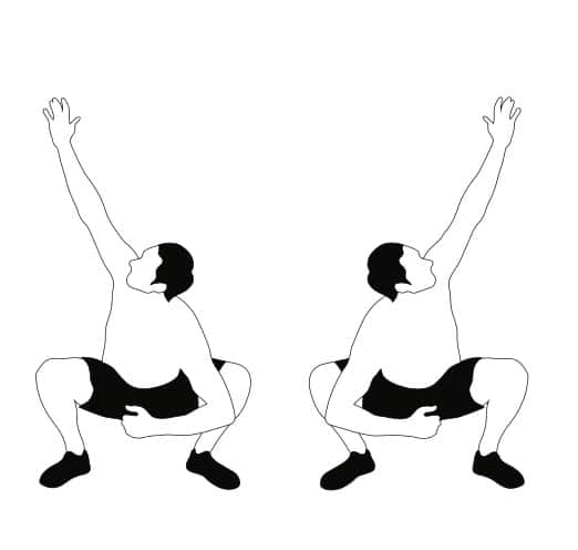 Squat With Arm Reach